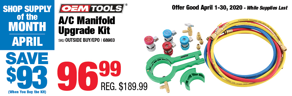 April Shop Supply of the Month: AC Manifold Kit